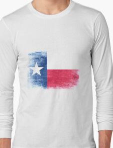 Texas State Flag Distressed Vintage Shirt Long Sleeve T-Shirt