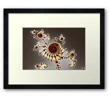 Irregular Bow Spirals No. 1 Framed Print