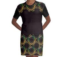 Yellow Green Fantasy variation (women's apparel) Graphic T-Shirt Dress