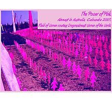 Pink Power Lining Up Photographic Print