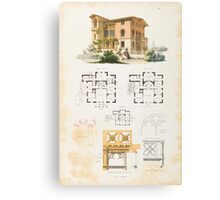 Gram, J [ohann] Christian. The architect for friends of beautiful architecture. Facades Canvas Print