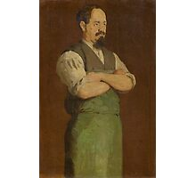 HODLER, FERDINAND (Bern 1853 - 1918 Geneva) The shoemaker, Uncle Neukomm. Photographic Print