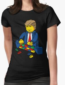 Donald Trump - Build A Wall Womens Fitted T-Shirt