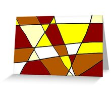 Abstract Warmth Greeting Card