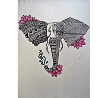 Zen Elephant Photographic Print