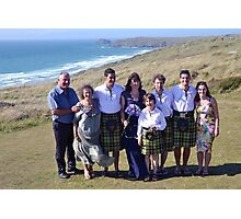 A Small Group of the Wedding Party..   Cornwall UK Photographic Print