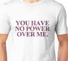 No power - Red Violet Glitter Unisex T-Shirt