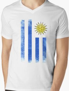 Uruguay Flag Proud Uruguayan Vintage Distressed Shirt Mens V-Neck T-Shirt