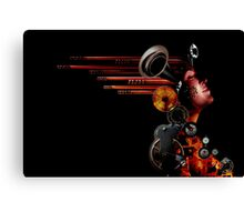 crank-up woman  Canvas Print