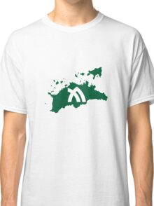 Flag Map of Kagawa Prefecture  Classic T-Shirt