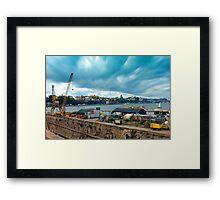 Stockholm Industrial Harbour, SWEDEN Framed Print