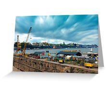 Stockholm Industrial Harbour, SWEDEN Greeting Card