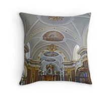Interior of Franciscan Church, Budapest, Hungary Throw Pillow