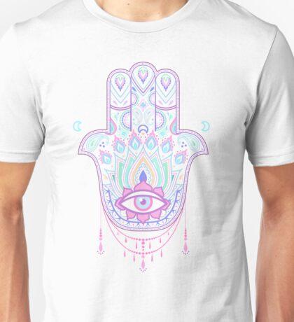 Pastel Hamsa amulet Unisex T-Shirt