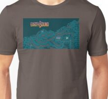 Earthbound - Onett Cliffs at Night with Logo Unisex T-Shirt
