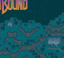 Earthbound - Onett Cliffs at Night with Logo Sticker