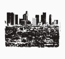 Los Angeles Skyline Stamp  Kids Clothes