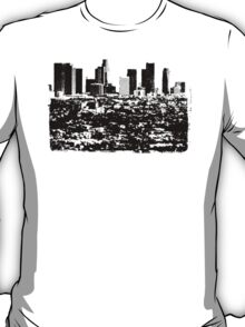 Los Angeles Skyline Stamp  T-Shirt