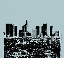 Los Angeles Skyline Stamp  by CorrieJacobs
