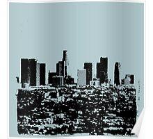 Los Angeles Skyline Stamp  Poster