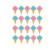 Pastel Ice Cream Art Print