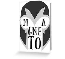Magneto's Helmet Greeting Card