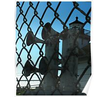 OLD FOGHORNS - Decommissioned Lighthouse, POINT SAN LUIS LIGHTHOUSE Poster