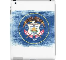 Utah State Flag Distressed Vintage Shirt iPad Case/Skin