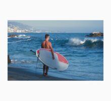 Paddle Boarder In Laguna Beach California One Piece - Short Sleeve