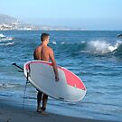 Paddle Boarder In Laguna Beach California by K D Graves Photography