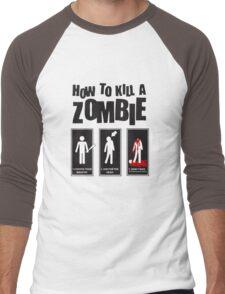 How To Kill a Zombie Men's Baseball ¾ T-Shirt