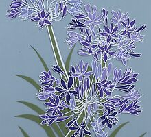 Architectural Agapanthus by Hannah Clair Phillips