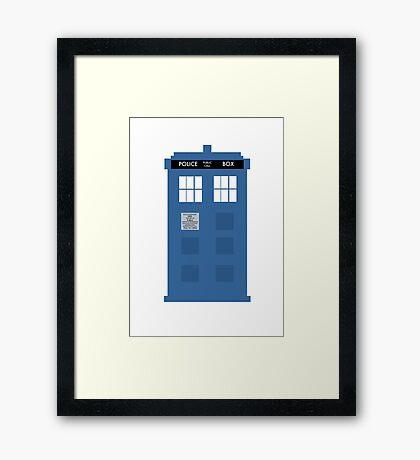 TARDIS - Doctor Who - Police Box Framed Print