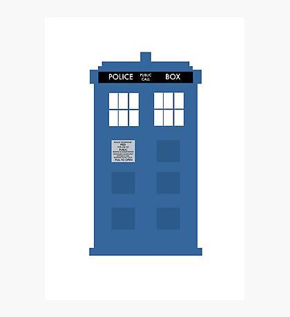 TARDIS - Doctor Who - Police Box Photographic Print