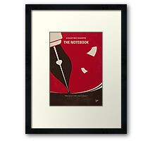No440 My The Notebook minimal movie poster Framed Print
