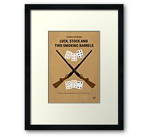 No441 My Lock, Stock and Two Smoking Barrels minimal movie poster Framed Print