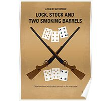No441 My Lock, Stock and Two Smoking Barrels minimal movie poster Poster