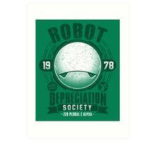 Robot Depreciation Society - Marvin the Paranoid Android Art Print