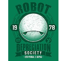 Robot Depreciation Society - Marvin the Paranoid Android Photographic Print