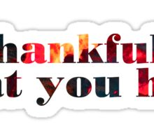 be thankful for what you have Sticker