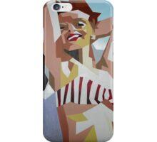 Marilyn Monroe In Red and White Striped Bikini iPhone Case/Skin