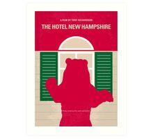 No443 My The Hotel New Hampshire minimal movie poster Art Print