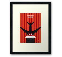 No446 My CON AIR minimal movie poster Framed Print