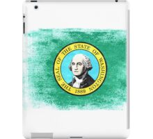 Washington State Flag Distressed Vintage Shirt iPad Case/Skin