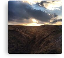 Up on the Moors Canvas Print