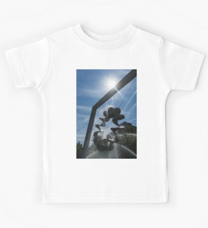 Spiral Sculpture Fountain with a Sun Flare Kids Tee