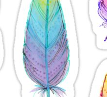 dream catcher and colorful feathers Sticker