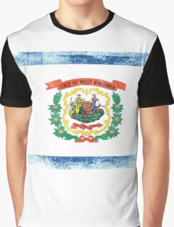 West Virginia State Flag Distressed Vintage Shirt Graphic T-Shirt