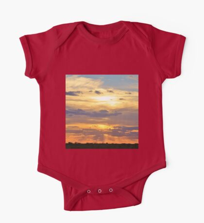 Sunset Background - Tranquil Harmony of Beauty  One Piece - Short Sleeve