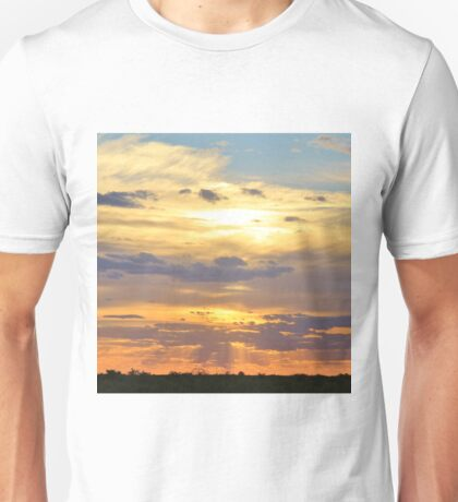 Sunset Background - Tranquil Harmony of Beauty  Unisex T-Shirt